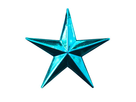 five pointed: five pointed star christmas decoration for haging on tree