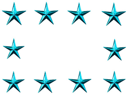 star path: Christmas Star isolated on white Background. isolated on white and clipping path Stock Photo