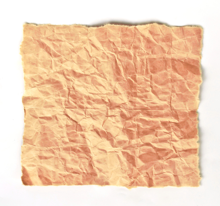 discard: Brown paper texture isolated on white background.