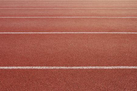 Piste d'athlète ou piste de course avec de beaux paysages Banque d'images
