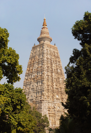 Mahabodhi Temple, Bodh Gaya, India 2 Stock Photo