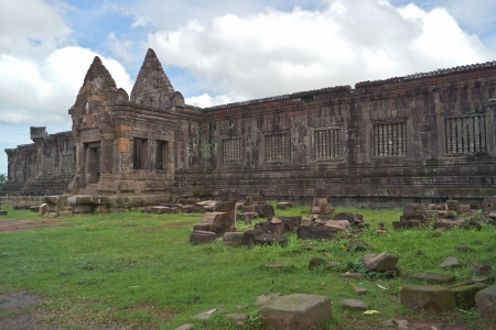 Wat Phu - ruined Khmer temple in southern Laos photo