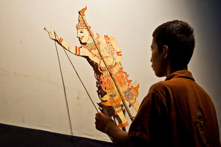 shadow puppet: Thai traditional shadow puppet movie called Nung Ta-Lung