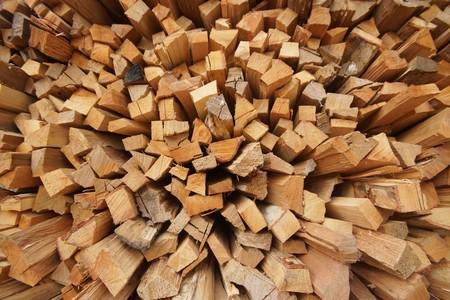 kindling: firewood  Dry firewood in a pile for furnace kindling