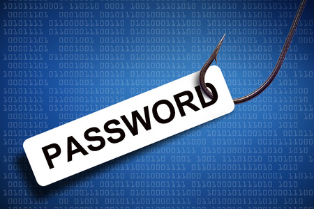 password phishing with digital background photo