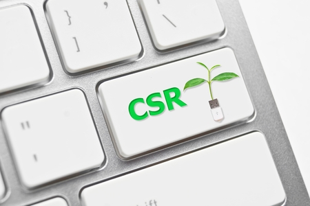 green computing: csr enter button with a green tree   Green computing   Green IT