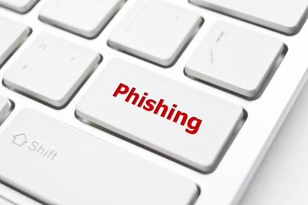 phishing: phishing button Stock Photo