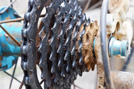 bicycle gear: dirty bicycle gear