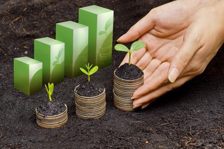 stock predictions: sequenza csr sviluppo sostenibile crescita del business Archivio Fotografico
