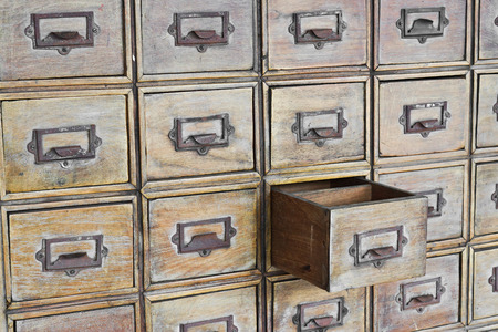 chest of drawers: open old chest of drawers
