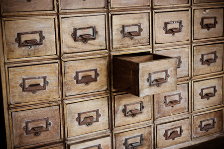 open old chest of drawers