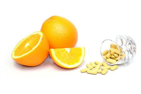 navel orange: navel orange and vitamin c Stock Photo