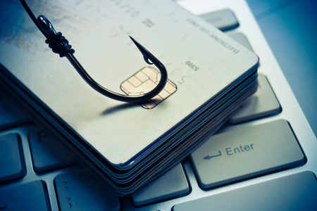 email security: credit card phishing Stock Photo