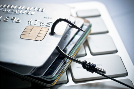 credit card phishing Archivio Fotografico