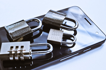security on mobile phone usage photo