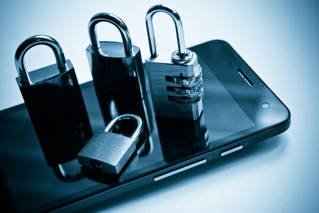 mobile security: mobile security - smartphone data theft concept