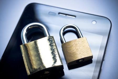 mobile security - smartphone data theft concept photo