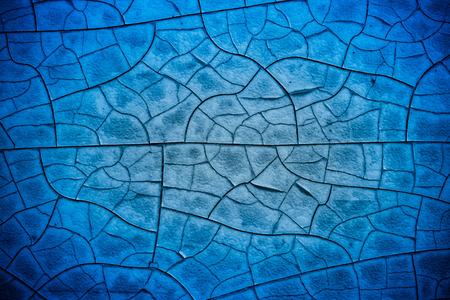 blue broken glass texture Stock Photo