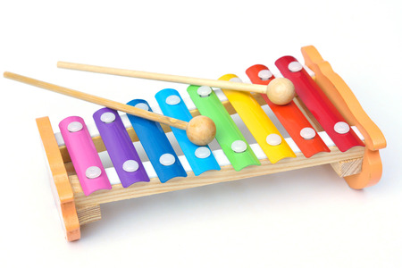 percussion instrument: small music xylophone baby percussion instrument Stock Photo