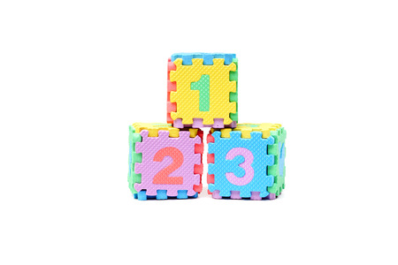 Jigsaw box with 1 2 3 number photo