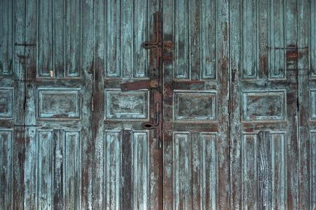 folding: old wooden folding door Stock Photo
