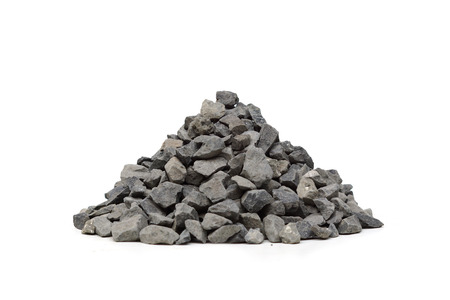 gravel: construction gravel Stock Photo