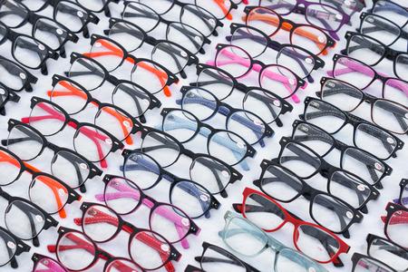 eye shade: colorful eyeglasses Stock Photo