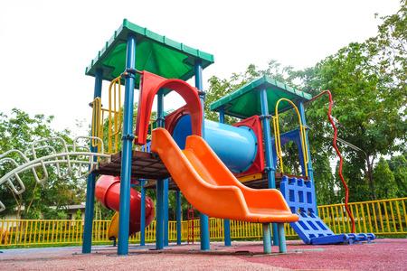 playground equipment: colorful playground for kids Stock Photo