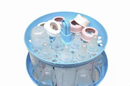niples: Cocer al vapor y la esterilizaci�n de los pezones y las botellas de leche para el beb�