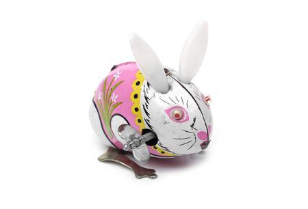tin: old tin rabbit toy