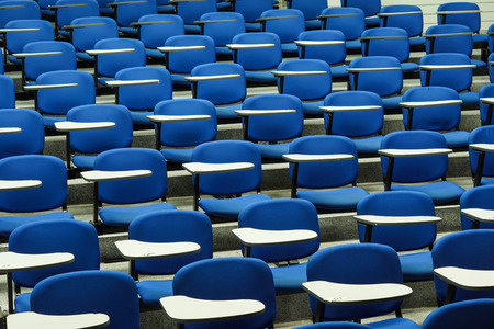 lecture: An empty large lecture room  University classroom