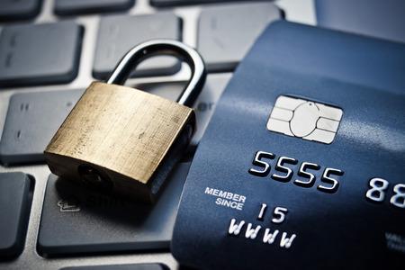 credit card data encryption security Standard-Bild