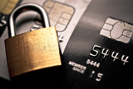 credit card data encryption security Stockfoto
