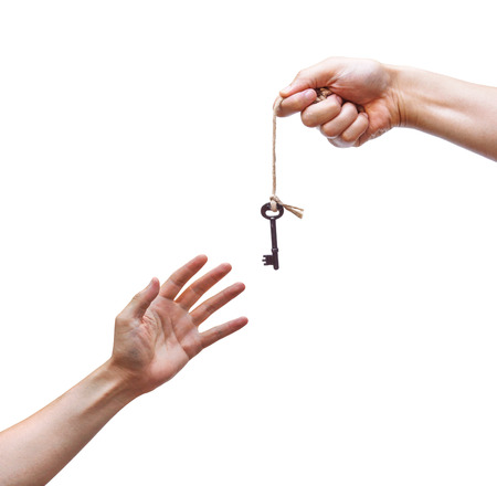 opportunist: hand reaching out trying to get a key from the other hand