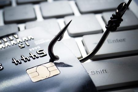 Kreditkarte Phishing-Attacke Standard-Bild - 45691457