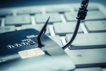 Kreditkarte Phishing-Attacke Standard-Bild