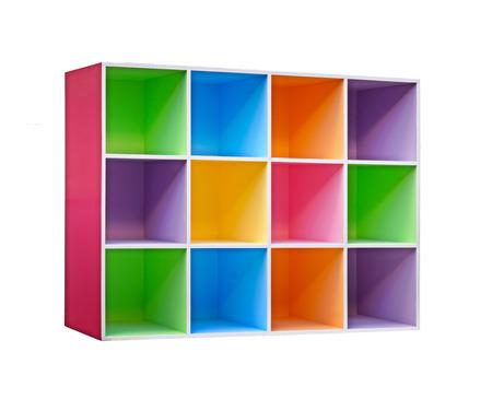 mobiliario de oficina: colorido armario de madera