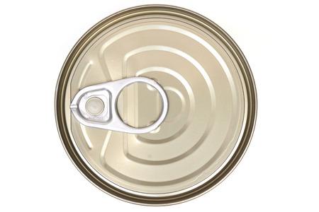 vue de dessus d'une boîte alimentaire isolé