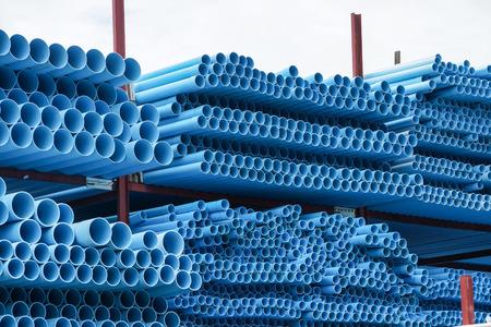 culvert: blue pvc pipe