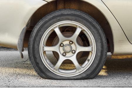 flat tire: car flat tire