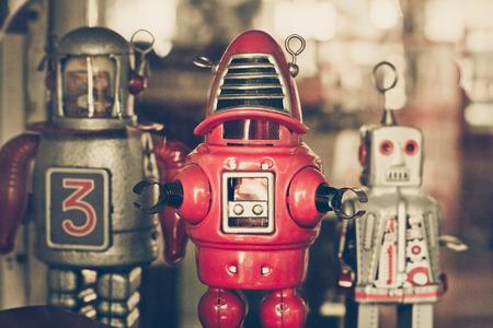 tin robot: old classic tin robot toys