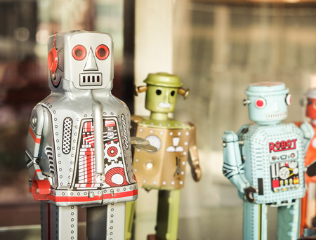 tin: old classic tin robot toys
