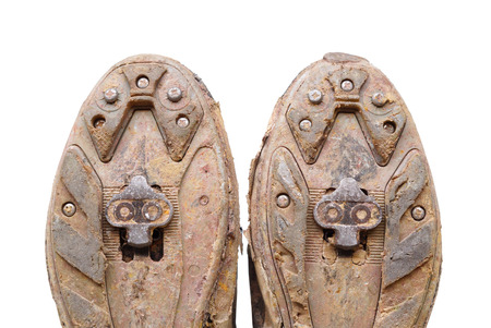cleats: old mountain bike cycling shoes with cleats