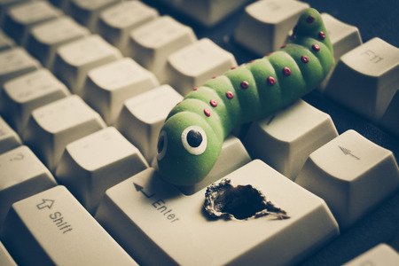 breach: computer security breach due to worm attack