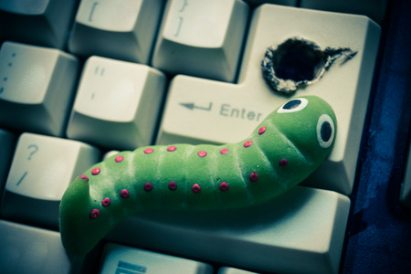 security breach: computer security breach due to worm attack
