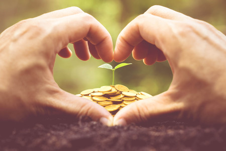 csr: Business with csr practice  Green business concept Stock Photo