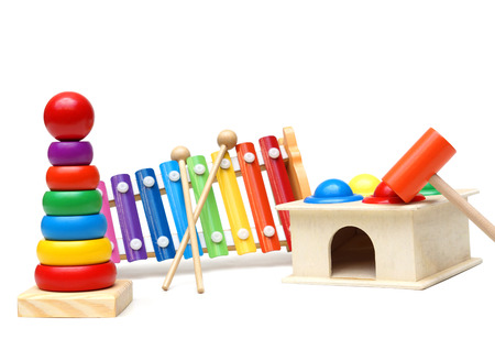 Colorful wooden toy for child development