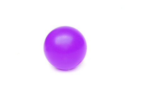 young add: purple plastic ball isolated