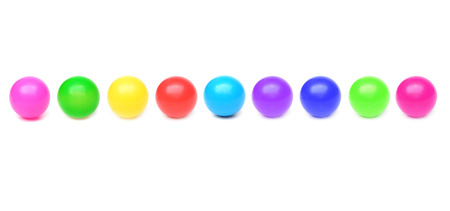 colorful plastic balls isolated Stock Photo