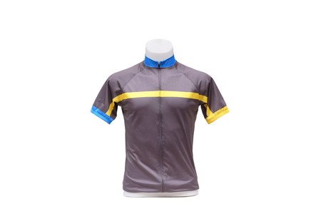 strip shirt: Jersey. Bicycle Jersey with short sleeves for cyclist Stock Photo